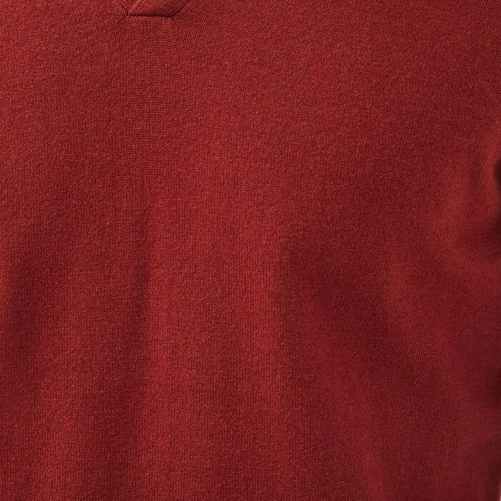 Pull éco-responsable marron cognac homme