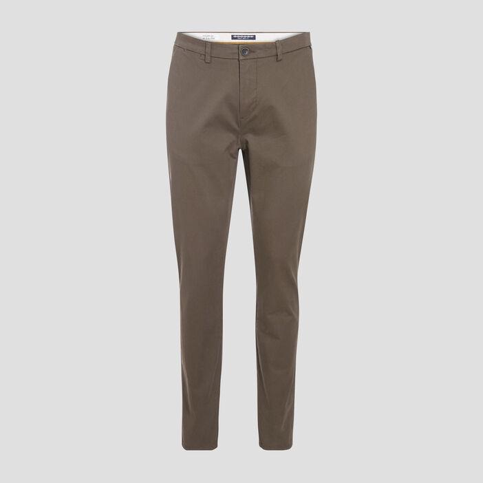 Pantalon slim Instinct chino vert kaki homme