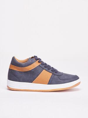 Baskets sneakers plates bleu fonce homme