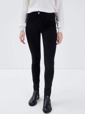 Jeans Lou  jegging en coton bio denim noir femme