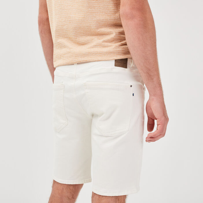 Bermuda droit 5 poches ecru homme