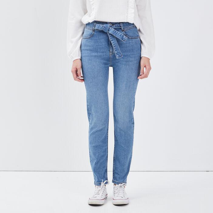 Jeans slim ceinturé denim used femme