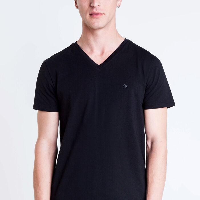 T-shirt col V Instinct noir homme