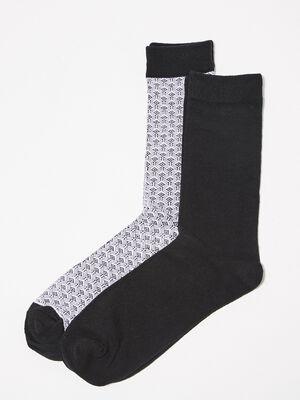 Lot 2 paires de chaussettes noir homme