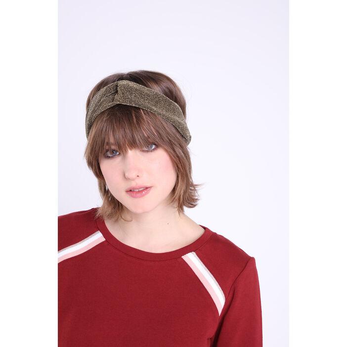 Headband glitter jaune or femme
