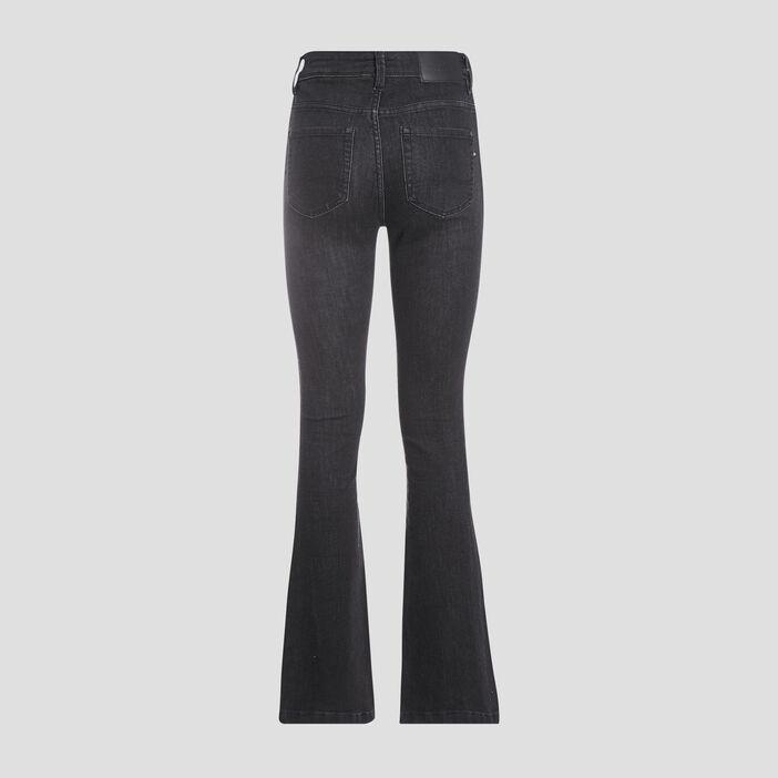 Jeans Yoko - bootcut denim gris femme