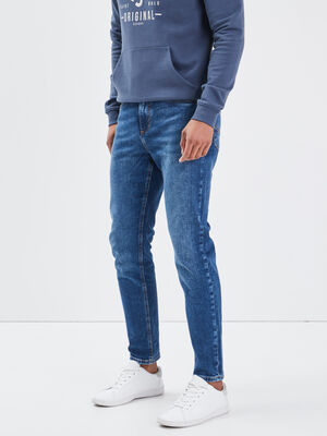 Jeans tapered eco responsable denim stone homme