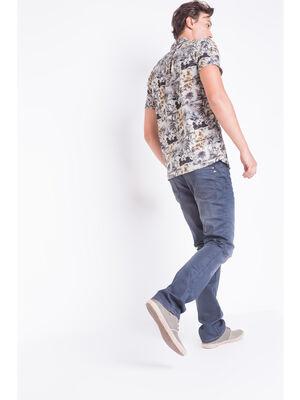 Jeans regular used denim gris homme
