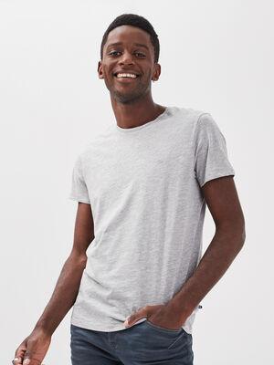 T shirt Instinct col rond gris clair homme