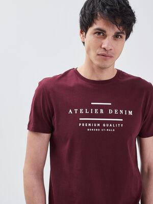 T shirt manches courtes violet fonce homme