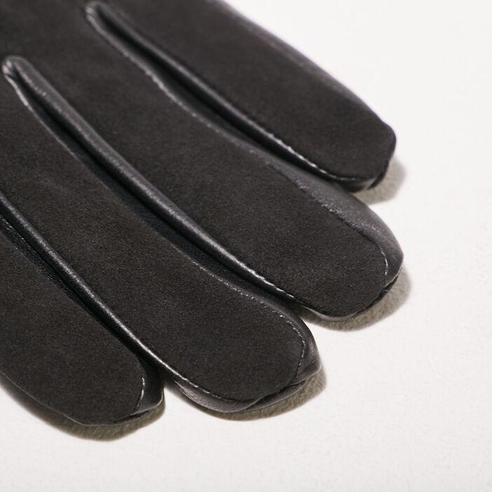 Gants en cuir noir homme