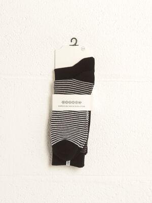 Lot 2 paires chaussettes noir homme