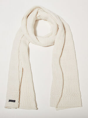charpe tricotee ecru femme