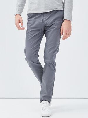 Pantalon slim Instinct chino gris fonce homme