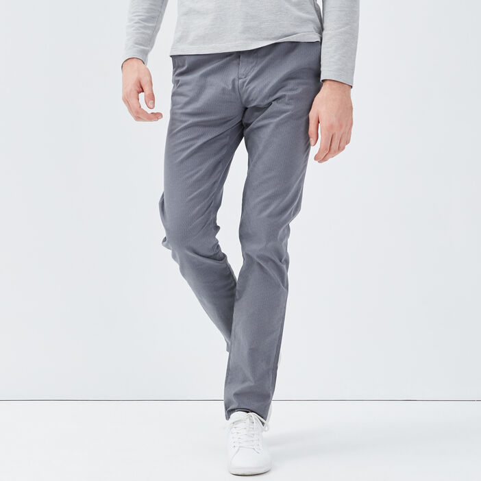 Pantalon slim Instinct chino gris foncé homme
