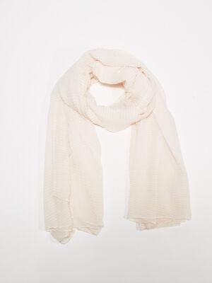 Foulard plisse vieux rose femme