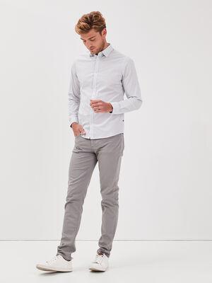 Pantalon slim 5 poches gris fonce homme