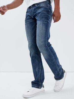 Jeans regular effet used denim stone homme