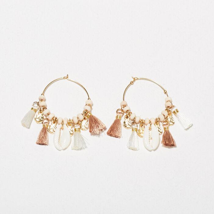 Boucles d'oreilles créoles couleur or femme