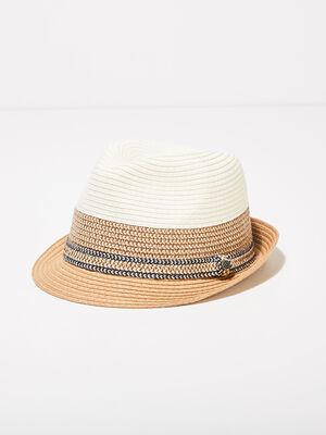 Chapeau details tresses sable homme