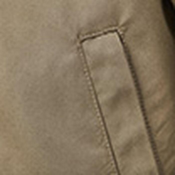 Veste teddy droite zippée vert kaki homme