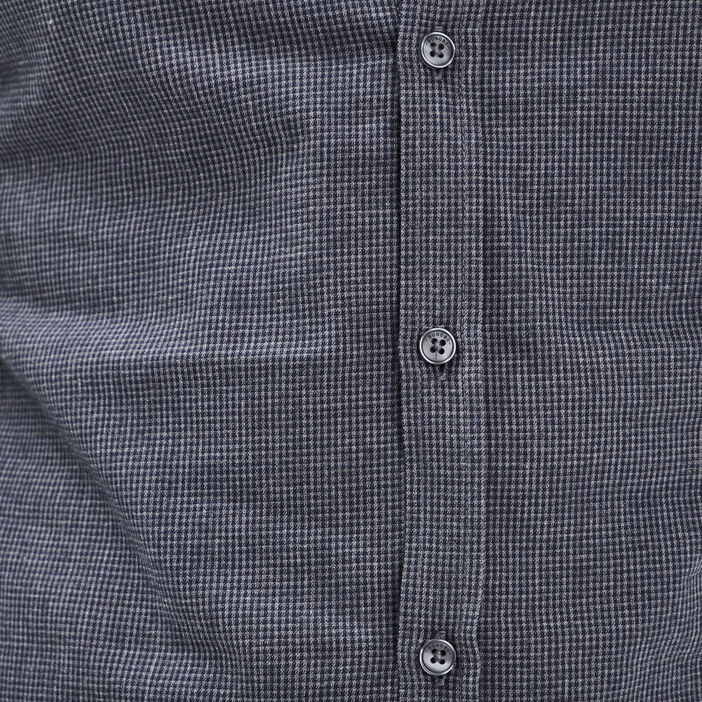 Chemise manches longues gris foncé homme