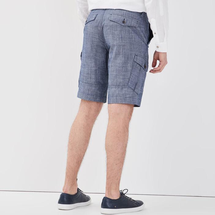 Short droit poches latérales denim stone homme