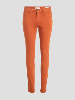 Pantalon eco responsable orange fonce femme