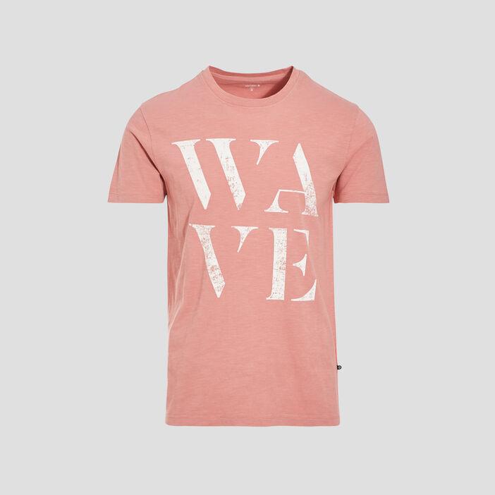 T-shirt éco-responsable rose homme