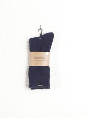 Set 3 paires de chaussettes bleu marine homme
