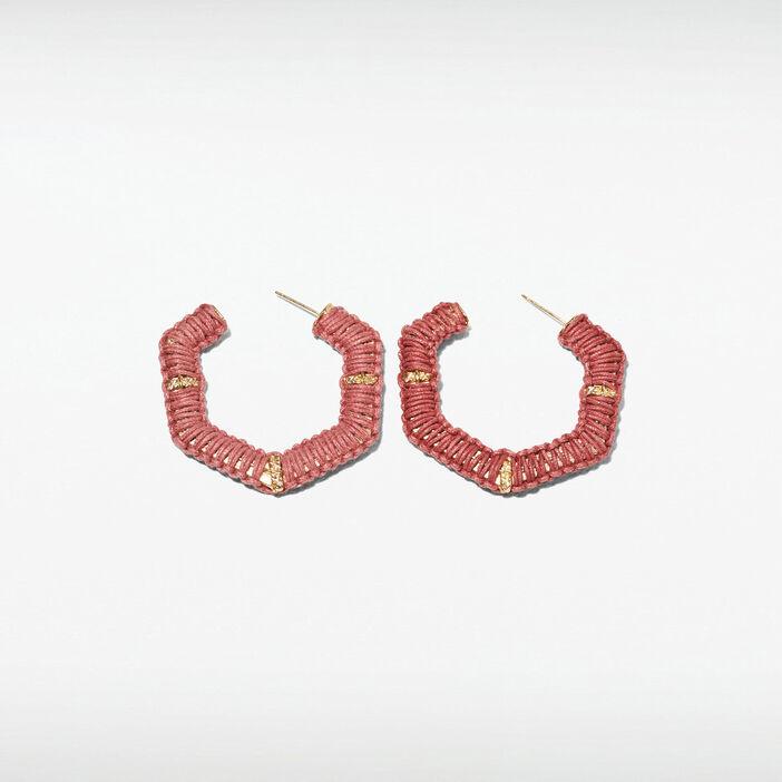 Boucles d'oreilles créoles vieux rose femme