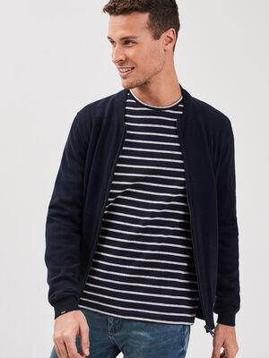 T shirt Instinct col rond bleu fonce homme
