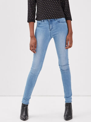 Jeans Lou  jegging en coton bio denim used femme