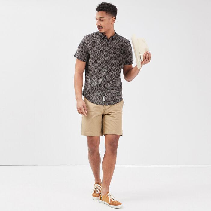 Bermuda chino beige homme