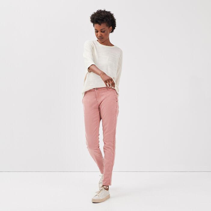 Pantalon chino Instinct rose femme