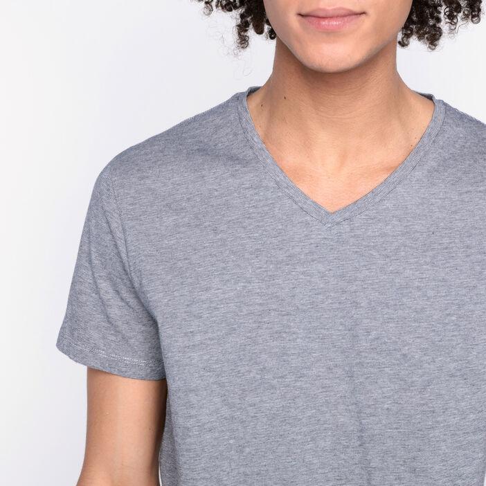 T-shirt manches courtes bleu marine homme