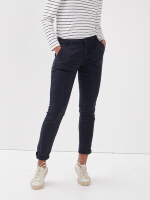 Pantalon chino Instinct bleu fonce femme