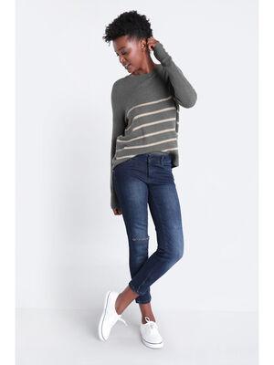 Jeans slim push up used denim brut femme