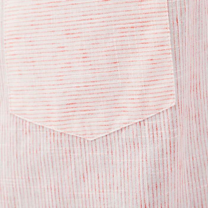 Chemise manches courtes rose corail homme