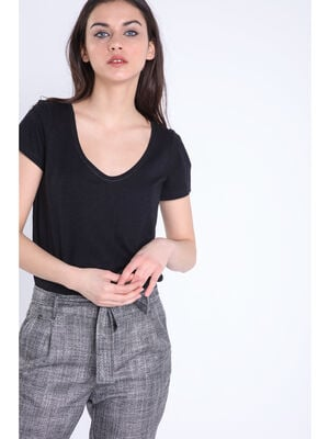 T shirt manches courtes Instinct noir femme
