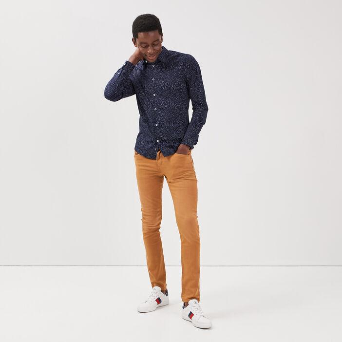 Pantalon slim 5 poches beige homme