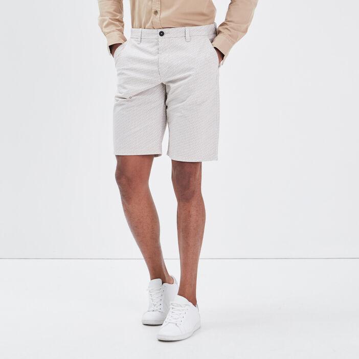 Bermuda droit éco-responsable beige homme
