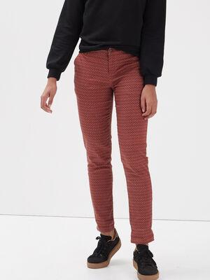 Pantalon chino Instinct rouge clair femme