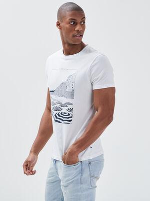 T shirt eco responsable blanc homme