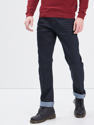 Jeans straight denim noir homme