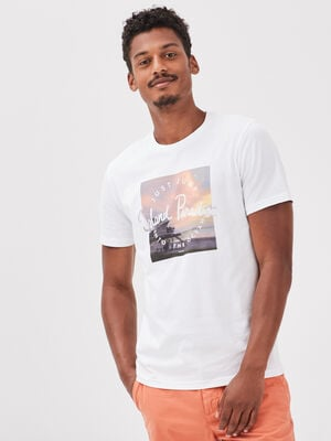 T shirt eco responsable blanc homme