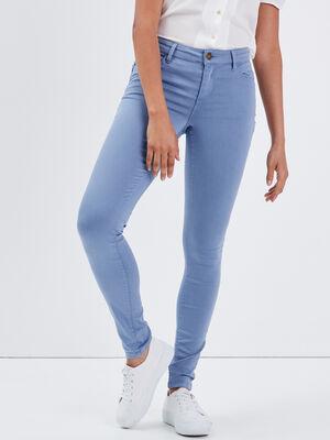 Pantalon Audrey  skinny push up bleu gris femme