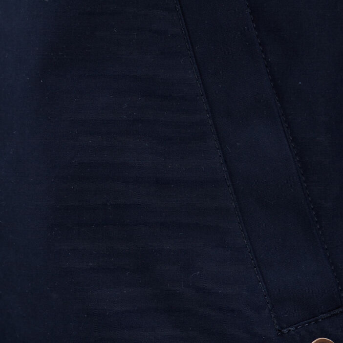 Veste teddy droite zippée bleu marine homme