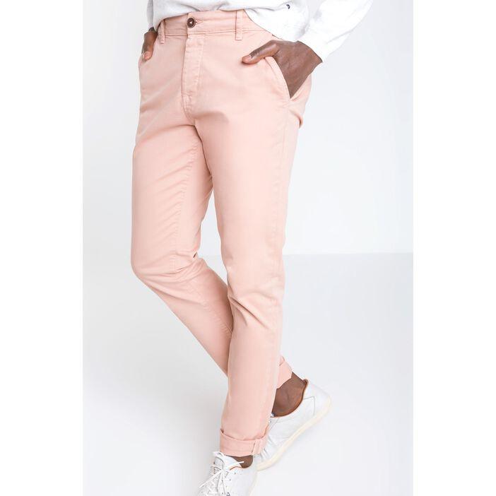 nouveau produit magasins populaires gamme complète d'articles Pantalon homme chino straight ROSE SAUMON | Vib's
