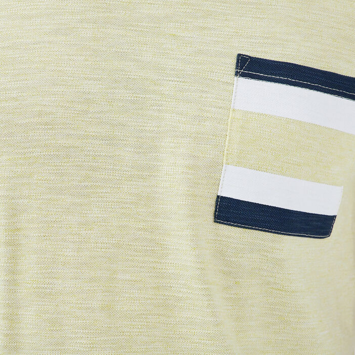T-shirt manches courtes vert fluo homme